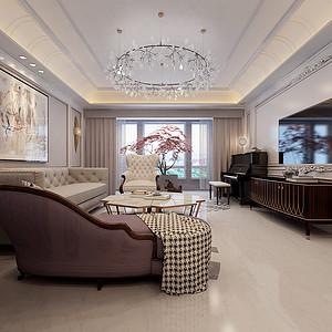 现代欧式混搭-客厅