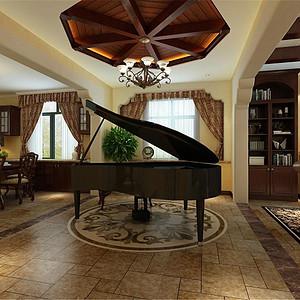 -花样年华郡托斯卡纳风格钢琴房效果图