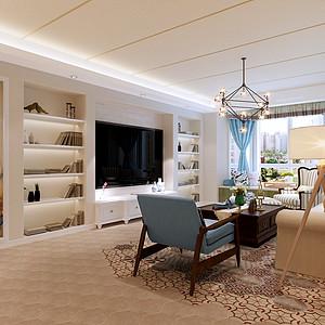 碧景园150平三室两厅简约美式风格装修案例