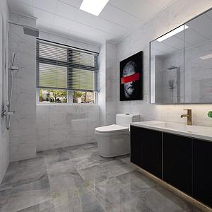 现代风格-卫生间-装修效果图