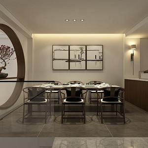 新中式风格 餐厅装修效果图片