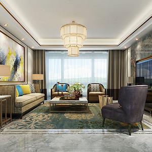 香山四季186㎡四居室新中式风格装修效果图