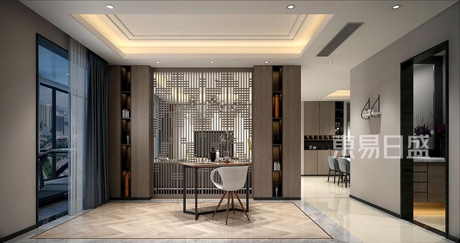 餐厅是家的一部分,用运浅灰色的色调
