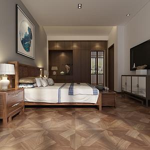 新中式风格 卧室装修效果图片