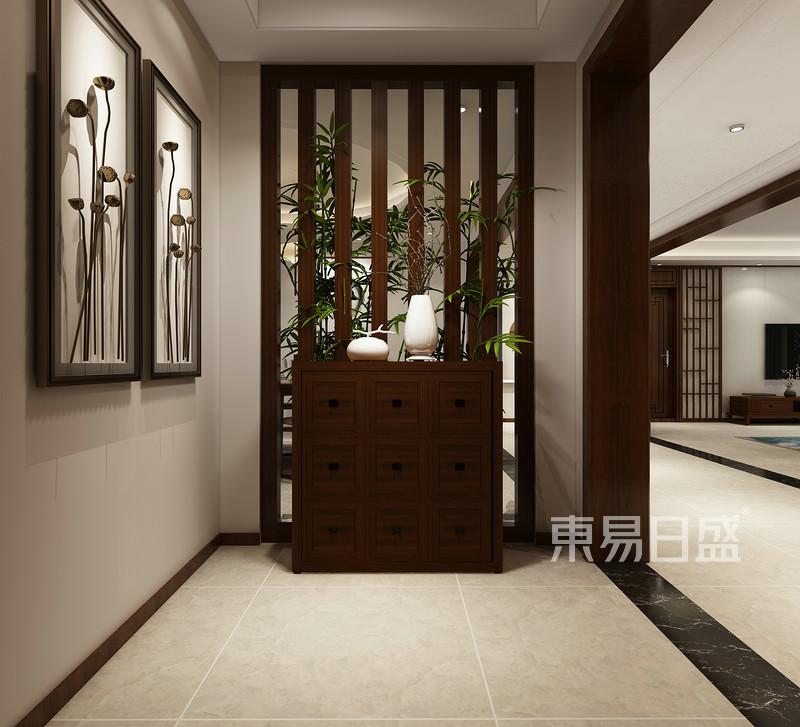 新中式风格-玄关-装修效果图图片