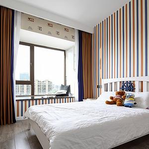 狮山名门现代简约140㎡卧室效果图