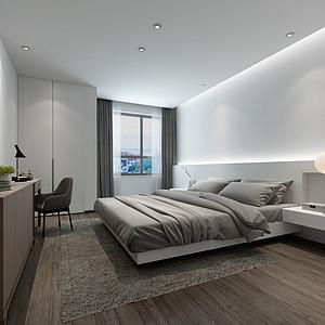 极简风格卧室
