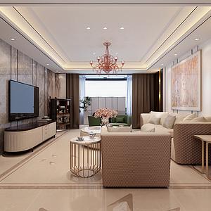 现代中式-客厅