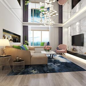 新裕家园-100平米-现代简约