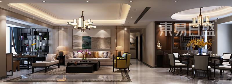 186㎡新中式客厅装修