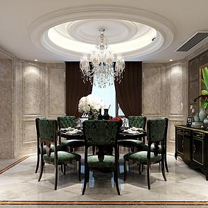 钱塘帝景新装饰主义风格餐厅效果图