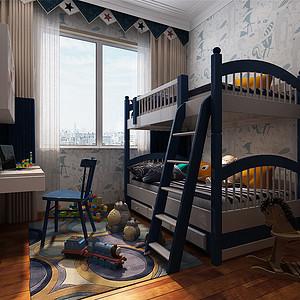 恒大华府现代简约风格儿童房装修效果图