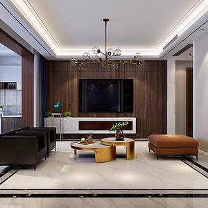 德贤公馆171平四室二厅现代新都市风格装修案例