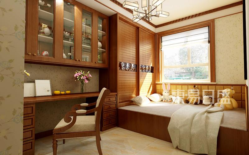 天山熙湖洋房-中式风格-卧室效果