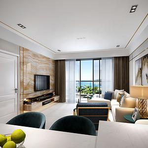 华润城 现代风格装修效果图 113平方三居室