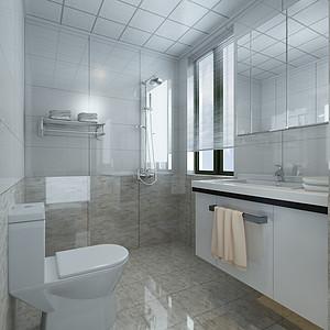 极简风格-卫生间-装修效果图