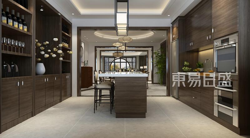 新中式风格-西厨-装修效果图