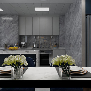 瑞景花园现代简约风格厨房装修效果图
