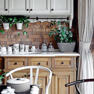 绿城百合-台式-厨房实景图