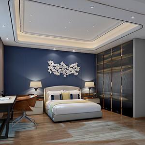 都市茗荟样板房 现代装修风格 卧室