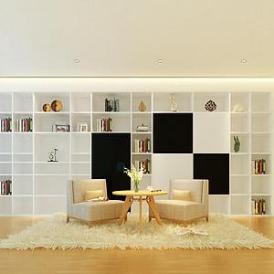 平层现代主义书房装修效果图