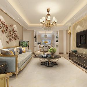 三居室-新古典-客厅-效果图