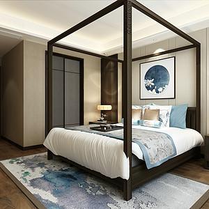 新中式风格-主卧-装修效果图-新中式卧室装修效果图