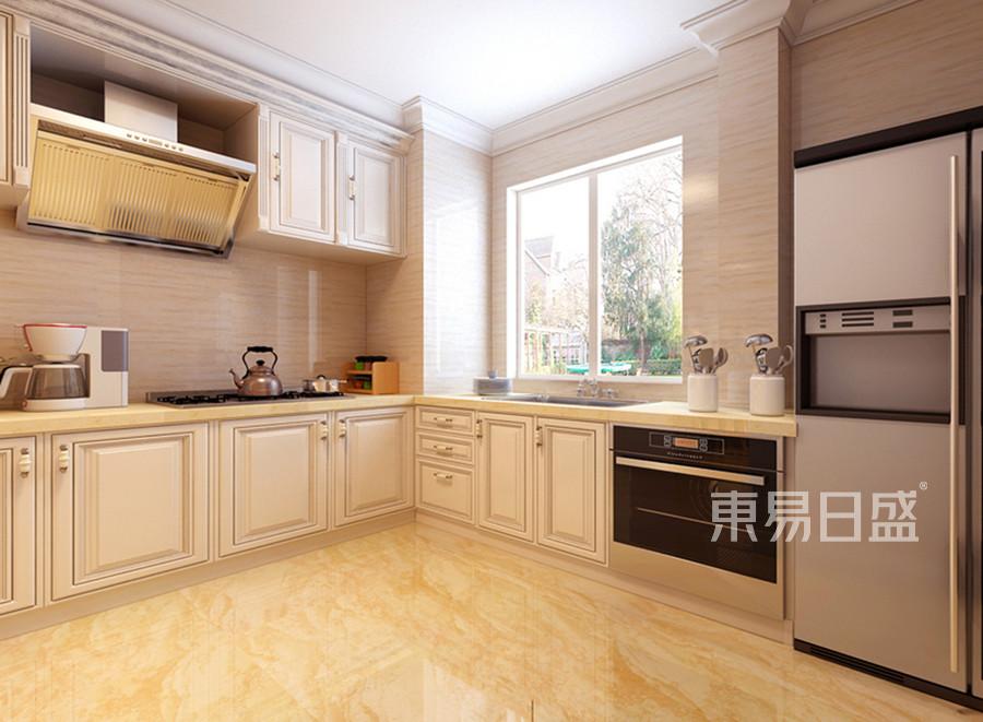 欧式装修风格厨房效果图效果图_2018装修案例图片