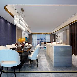 都市茗荟样板房 现代装修风格 餐厅
