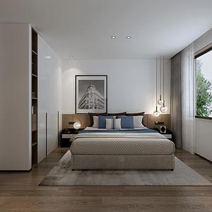 现代极简风卧室