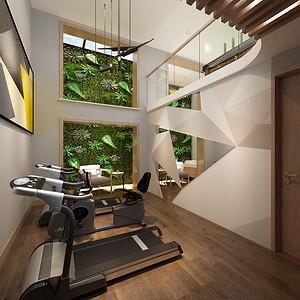 绿地与湖 现代都市装修效果图 别墅 270平米