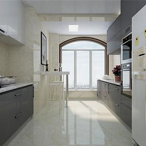 建投熙湖现代简约风格厨房装修效果图