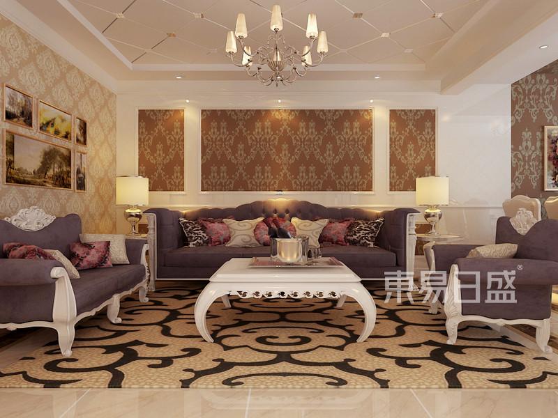 简欧-客厅沙发背景墙