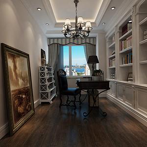 大连美式装修-书房