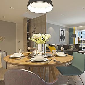 现代风格客厅餐厅