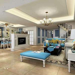 法式-复式-客厅
