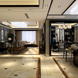 新中式风格四房二厅-客厅装修效果图-新中式客厅装修效果图 新中式客