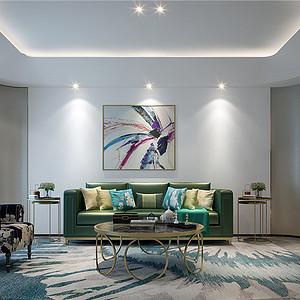 百家湖国际别墅花园307平中式轻奢风格