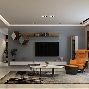 西郊小区140平三室二厅现代风格装修案例
