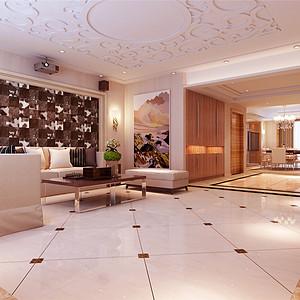汉沽蓝月庭院-现代风格-120平米