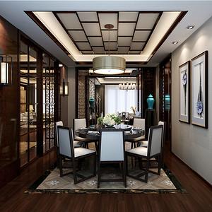 森兰明轩-新中式-140平米-餐厅