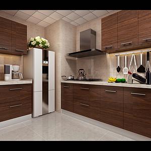新中式风格-厨房-装修效果图-厨房装修效果图
