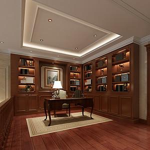 欧式风格书房