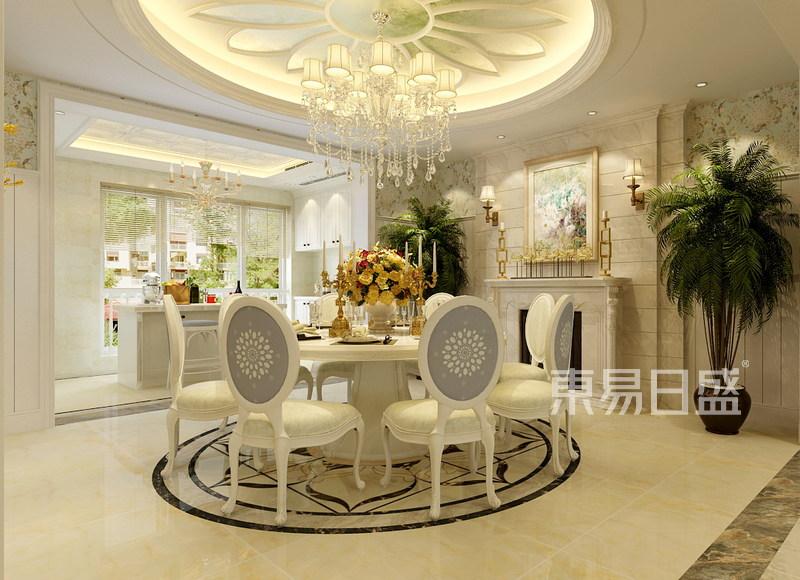 盛邦花园-美式风格-餐厅效果