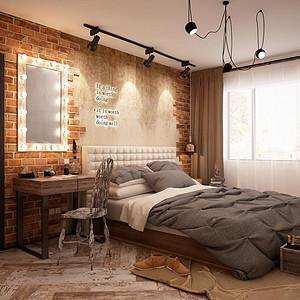 柳芳北里 工业风 卧室装饰
