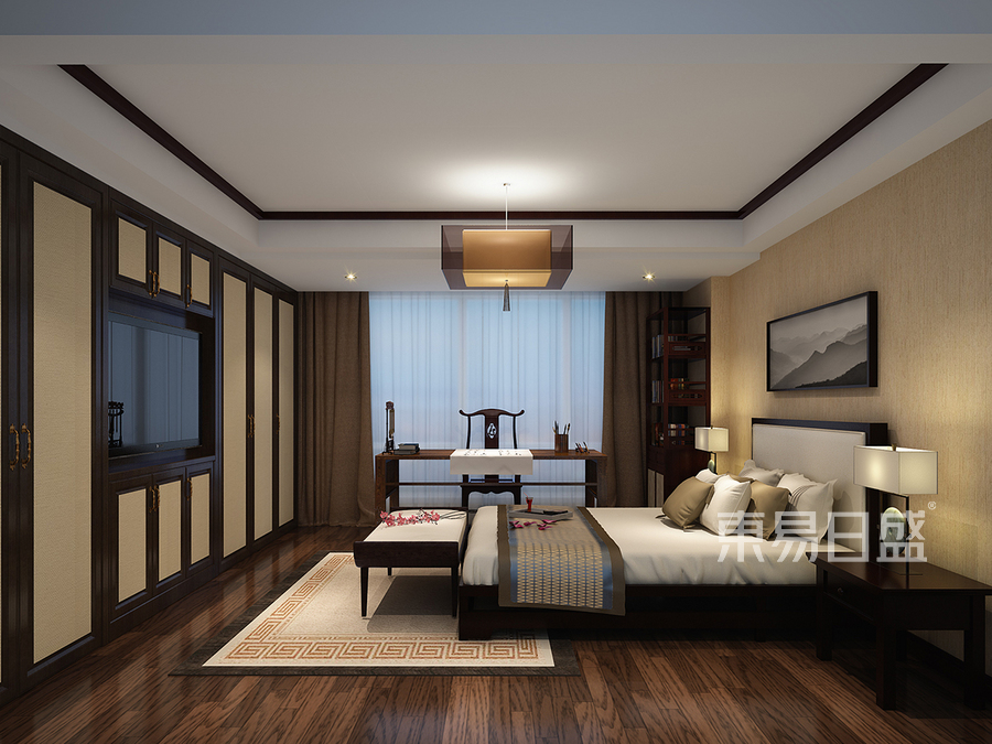 新中式客卧装修效果图