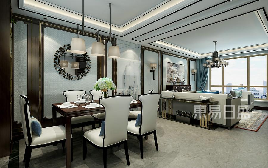 新中式风格-餐厅-装修效果图