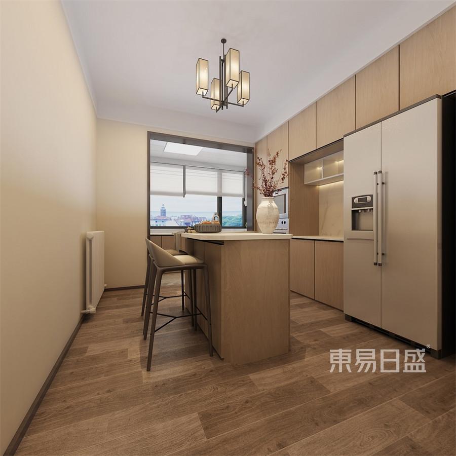 凯旋大地新中式三居室厨房装修效果图