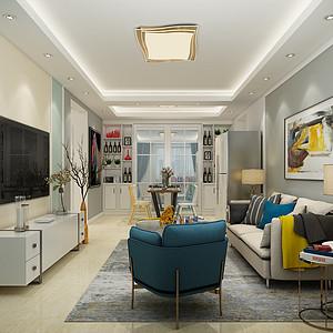 保定万和蓝山101平二室二厅简约风格装修案例