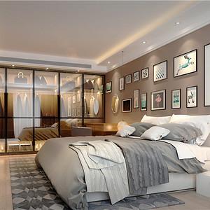 三和花园-北欧风格-180平米-卧室